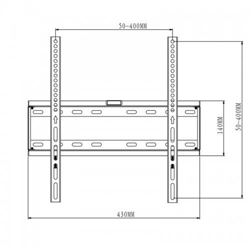 TV Bracket to fit LG 49UK6470PLC Black Flat Slim Fitting TV Bracket