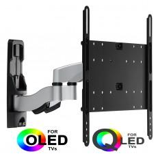 Fits LG TV model 55LM670T Silver Swivel & Tilt TV Bracket